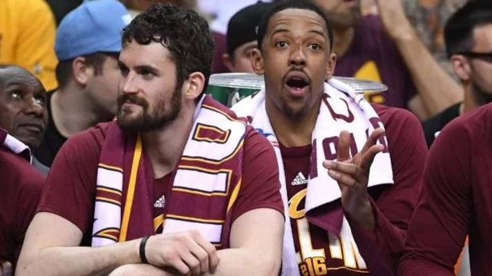 Kevin Love and Channing Frye