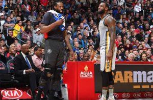 DeAndre Jordan and LeBron James Cavs