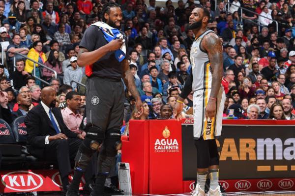 DeAndre Jordan and LeBron James Cavs