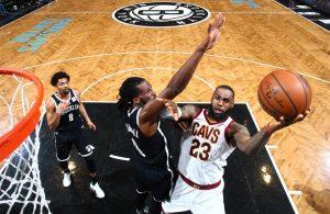 LeBron James and DeMarre Carroll Nets