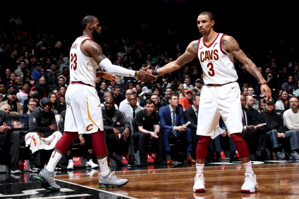 LeBron James and George Hill Cavs