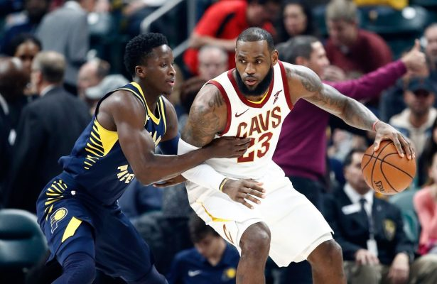 LeBron James and Victor Oladipo Cavs vs. Pacers