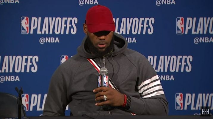 LeBron James Game 6 Postgame