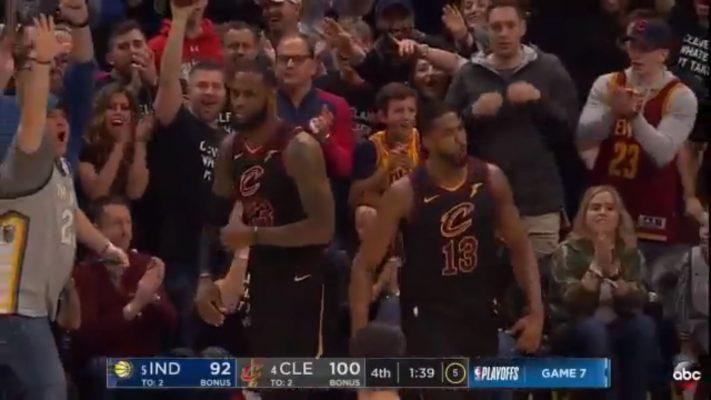 LeBron Leaves Cavs Fan Hanging