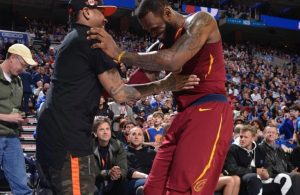 Allen Iverson and LeBron James Cavs