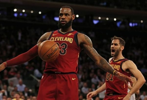 LeBron James and Jose Calderon Cavs