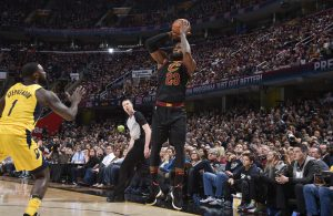 LeBron James Game 2 Indiana Pacers 3-Pointer