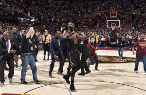 LeBron James Game-Winner Celebration