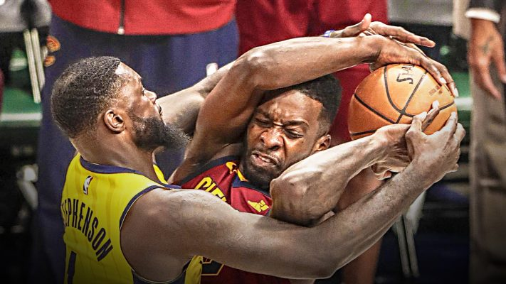 LeBron James laughs off Lance Stephenson (technically) getting better of him