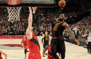 LeBron James Dunk Nurkic