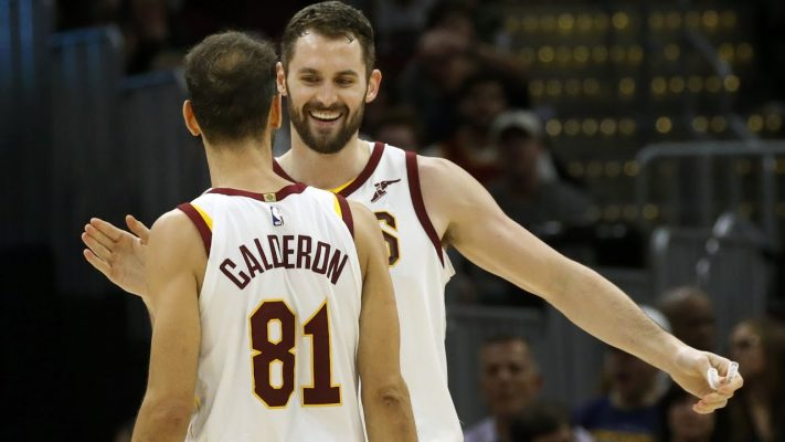 Jose Calderon and Kevin Love Cavs