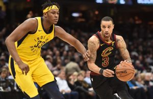 Myles Turner and George Hill Pacers