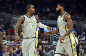 J.R. Smith and Tristan Thompson Cavs