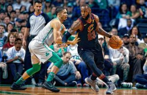 Jason Tatum and LeBron James, Celtics and Cavs