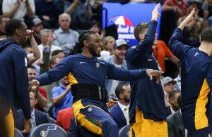 Utah Jazz Bench Laughing