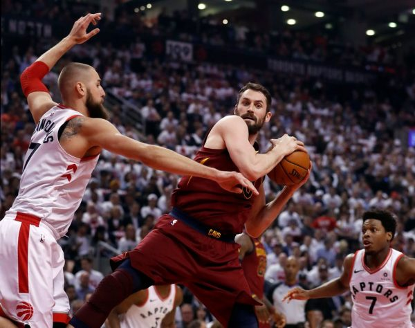 Kevin Love vs. Raptors