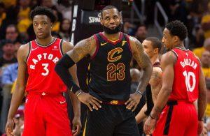 LeBron James and Toronto Raptors