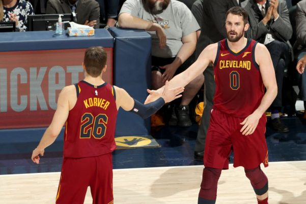 Kyle Korver and Kevin Love Cavs