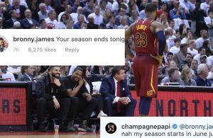 Drake and LeBron James Jr.
