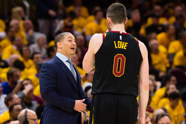 Tyronn Lue and Kevin Love Warriors