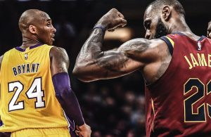 Kobe Bryant and LeBron James Lakers Cavs