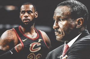 LeBron James and Dwane Casey