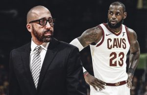 David Fizdale and LeBron James Cavs
