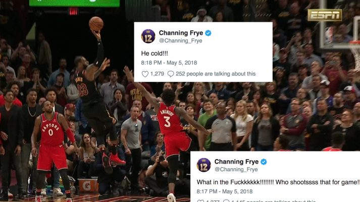 Channing Frye's Reaction to LeBron's Buzzer-Beater