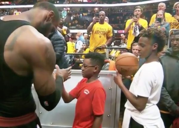 LeBron James Handshake With Sons