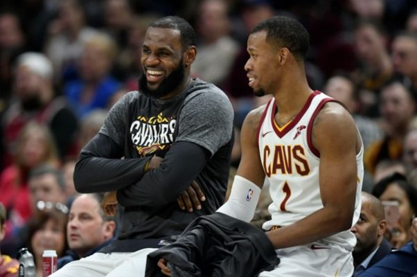 LeBron James and Rodney Hood Cavs