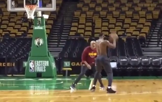 LeBron James Seen Putting in Work Several Hours Before Critical Game 2