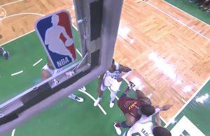 LeBron James Elbowed vs. Celtics