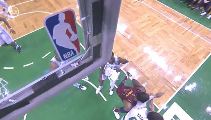 LeBron James Elbowed vs. Celtics