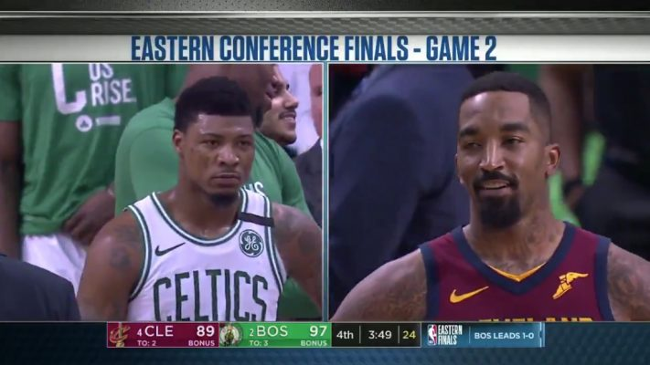 Marcus Smart calls out JR Smith after Game 2