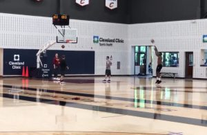 LeBron James Drills 12 Straight 3-Pointers After Practice