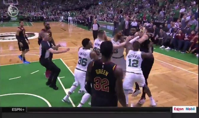 Larry Nance Jr. and Marcus Morris Scuffle