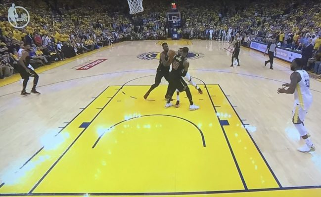 Kevin Durant Charging on LeBron James
