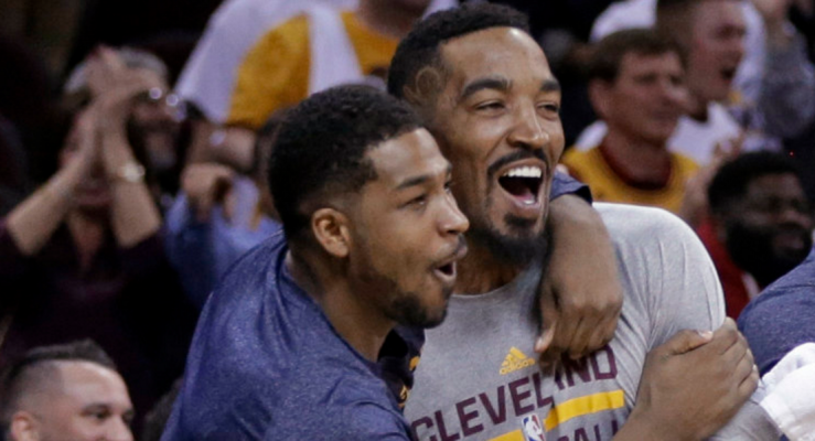 Tristan Thompson and J.R. Smith