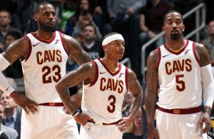 LeBron James, Isaiah Thomas, and J.R. Smith