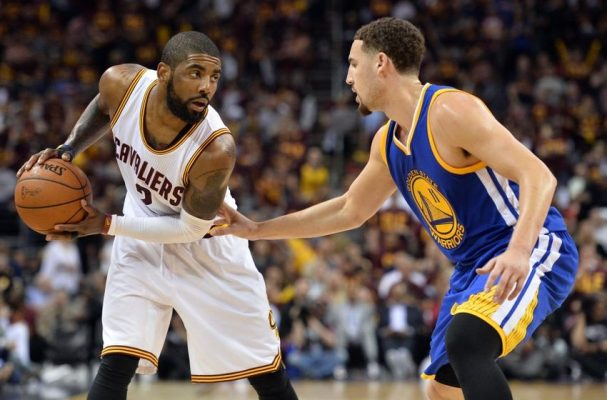 Kyrie Irving and Klay Thompson Cavs Warriors