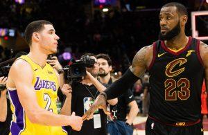 Lonzo Ball Lakers and LeBron James