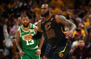 LeBron James Cavs Boston Celtics