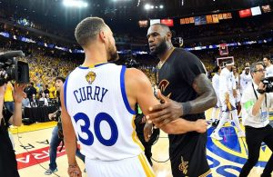 Stephen Curry and LeBron James NBA Finals