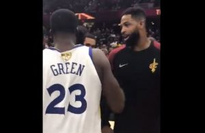 Draymond Green and Tristan Thompson