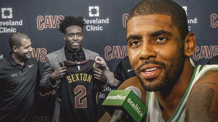 Collin Sexton and Kyrie Irving