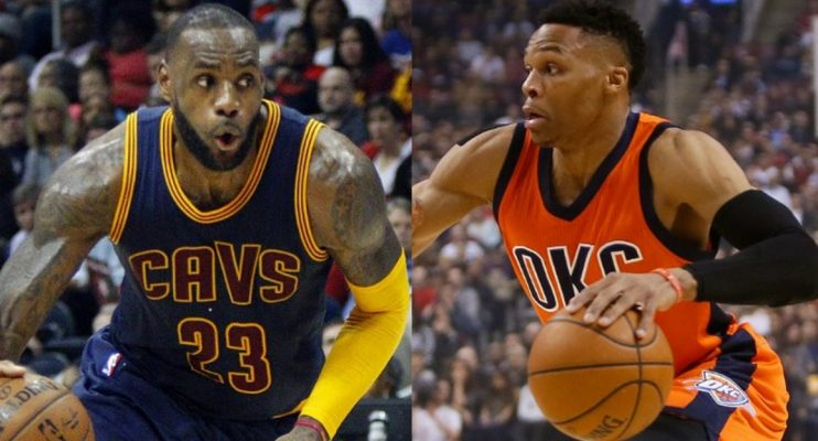 LeBron James and Russell Westbrook Cavs