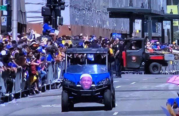 Golden State Warriors Troll LeBron James at Championship Parade
