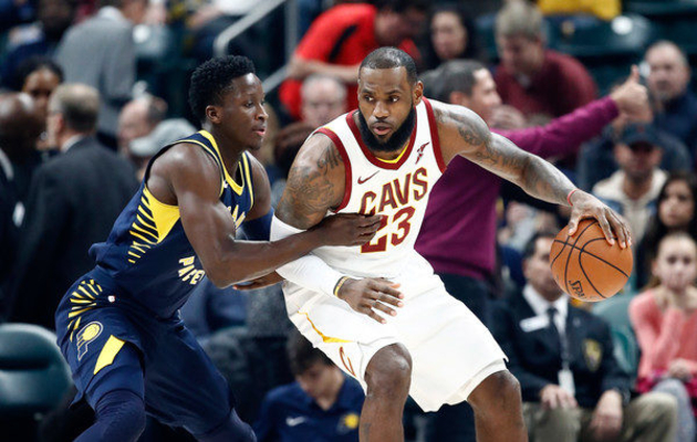 Victor Oladipo and LeBron James