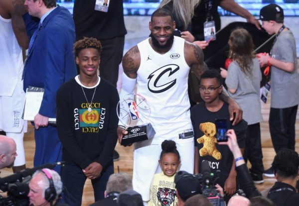 LeBron James and His Sons