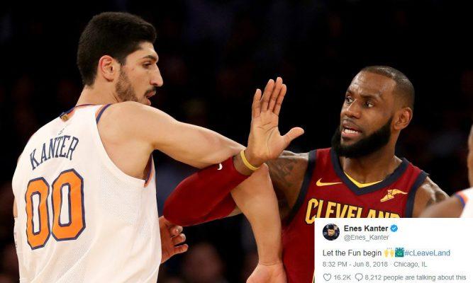 Enes Kanter LeBron James Knicks